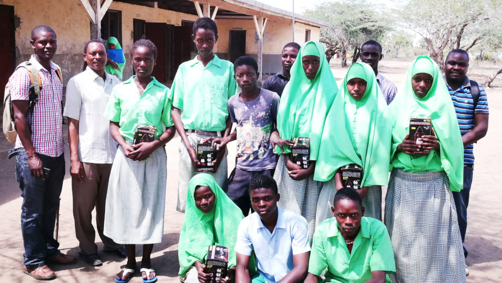 Few Students of Sera Primary Posing with Lanterns