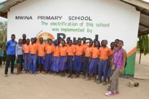 Students at Mwina Primary School