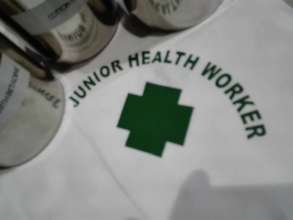 Junior Health Workers administer first aid