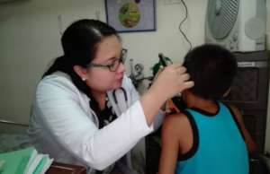Routine ear check-up of children beneficiaries