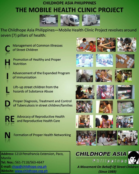 Provide primary health care for street children