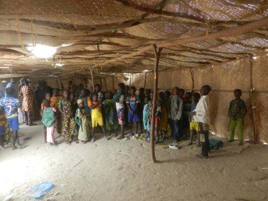 Temporary school at Bantam
