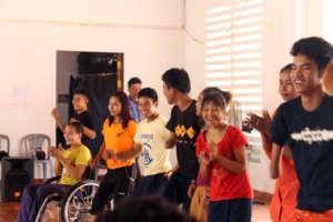 SEP & IAC students enjoy a warm up activity