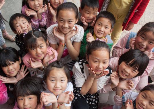 Teaching English to 180 Children in Rural China