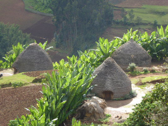 The lush village of Kalebo Laka