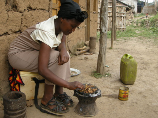 Coffee being prepared in Ethiopia