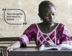 Conakry World Book Capital Reading Girl