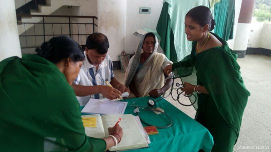 Chhabi is availing service of mobile medical camp