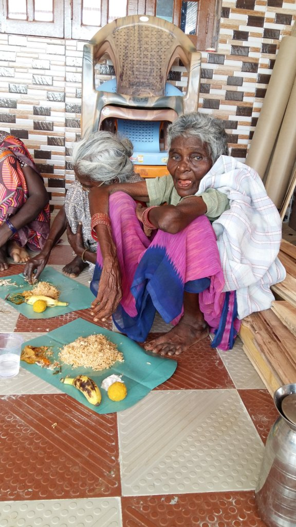Feed hungry deserted elders