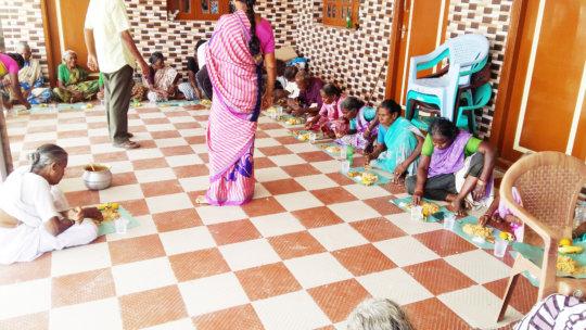 Feed hungry deserted elders