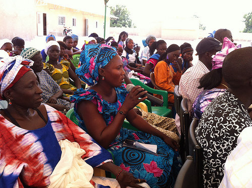 Community members discuss girls