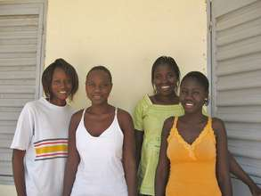 Fatou (right) with her high school classmates