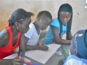 Sokone 4th & 5th graders studying