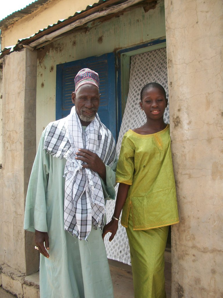 Diama and her father Oussman