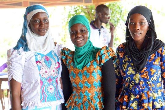 Alumni panelists Rokhaya, Mariama and Maimouna