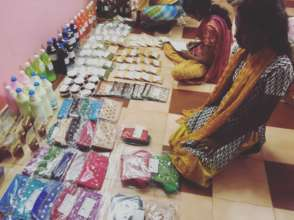 Products being sold at the Akshaya Store