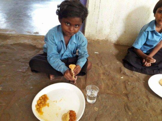 Feed Children in the school