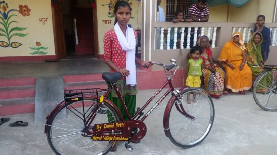 New bicycle for the girls in H. secondary school