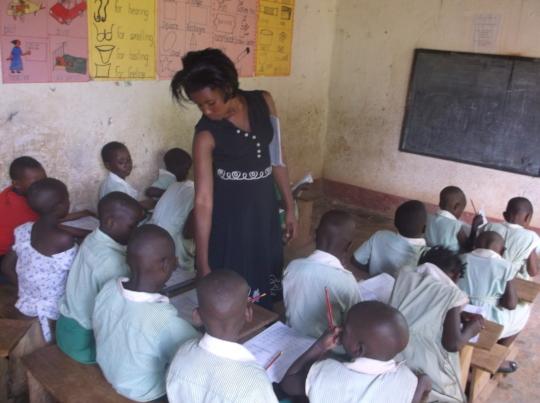 Class instruction in progress  by Teacher Ruth
