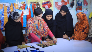 Orphan Girls are Learning about Dress Cutting
