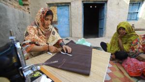 Orphan Girl Learning & Earning