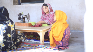 Asma - during stitching the dress