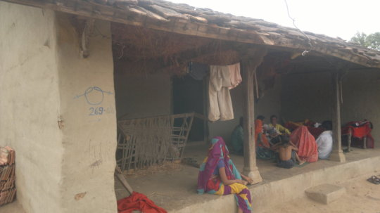 Villagers sitting idle because of no electricity