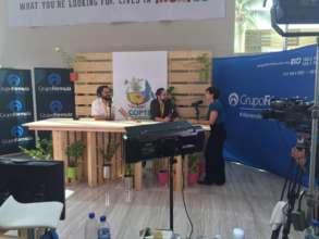 Aida Navarro representing AIDA at COP13.