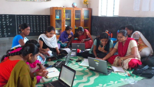 Computer training of Rural Coordinators