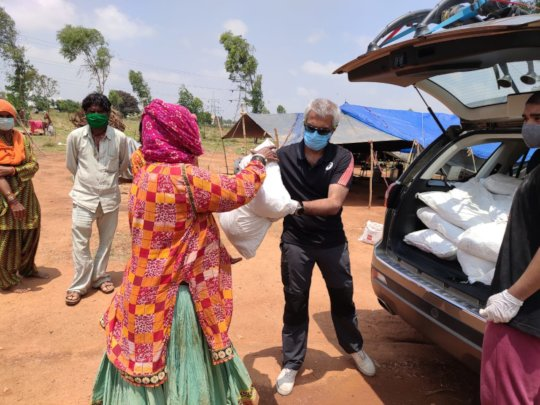 Distribution of Dry Rations