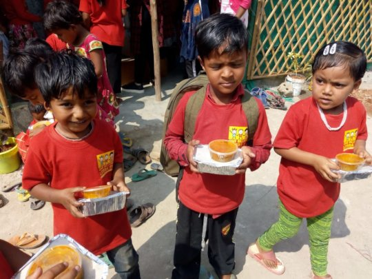 With Uniforms & Mid-day Meals