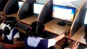 Children are using computer in KSSN
