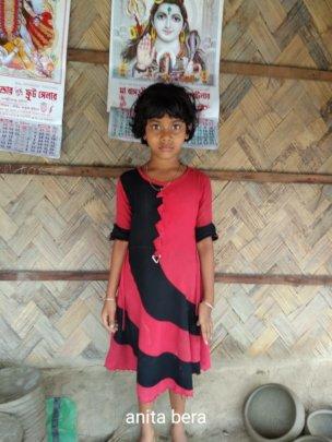 Sunita* with wonders in her Eyes
