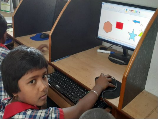File Picture- Rikta* in Computer Class