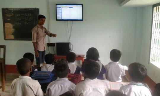 Digital education in classroom