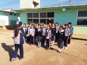 Girls exercising their leadership