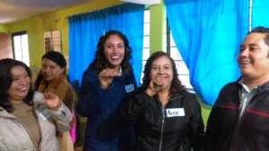 Teachers enjoying their workshop