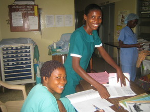 Two of the nurses working hard!