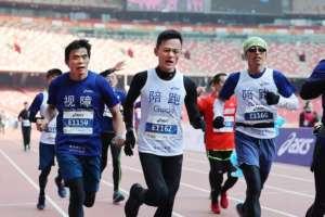 Final sprint of Beijing Bird Nest Half Marathon