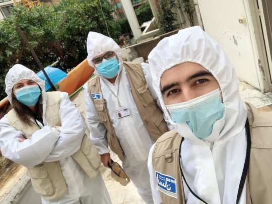 Insan's team in the field