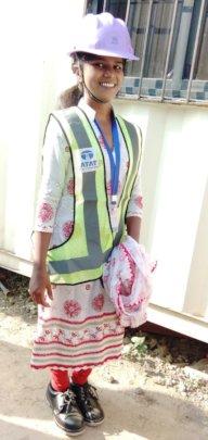 Priyanka on a field visit