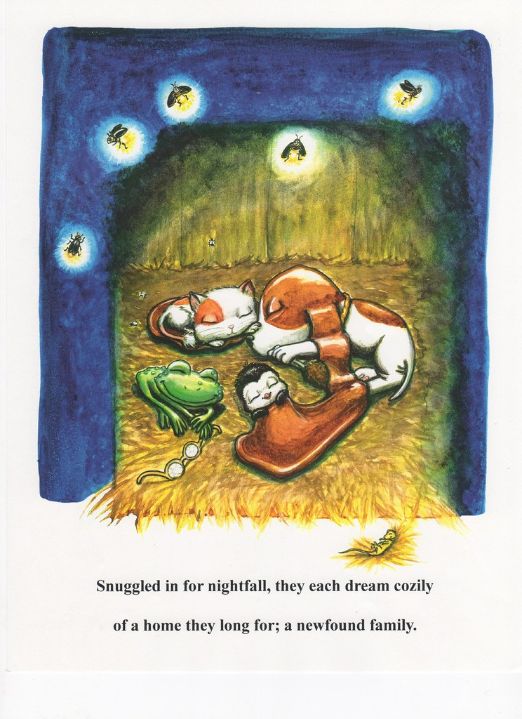 Snuggled in for nightfall, they each dream cozily...