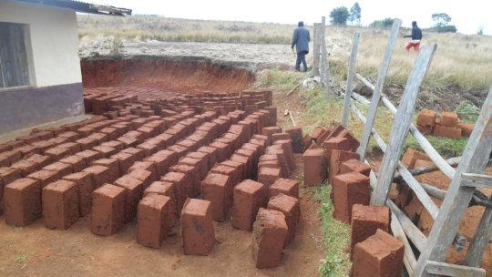 More sund dry bricks