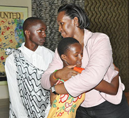 First Lady Kagame Greets ASYV students