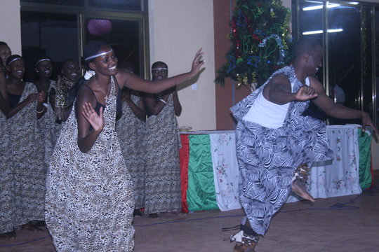 Traditional dance performed by staff and students