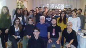 photo of meeting with donors and students on Dec15