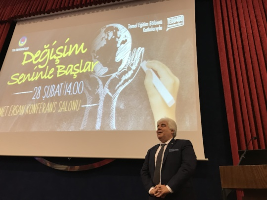 Mr.Aygunduz gave a speech in TED University