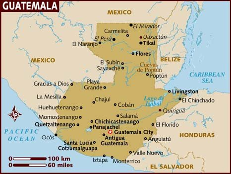Map of Guatemala