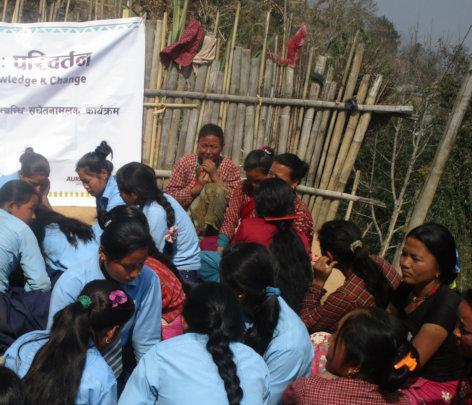 Young participants discuss menstruation and stigma