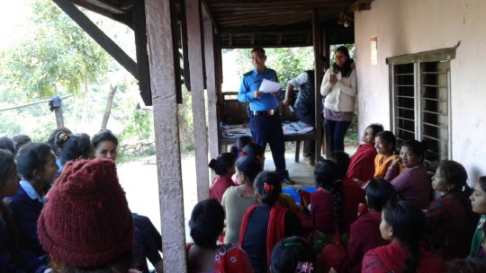 Local Police inform participants of their rights
